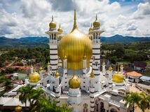 Aerial view of Masjid Ubudiah, Kuala Kangsar, Perak