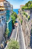 Scenic aerial view of Sorrento, Italy. Scenic aerial view from Piazza Tasso, central square in Sorrento, Italy Royalty Free Stock Photo