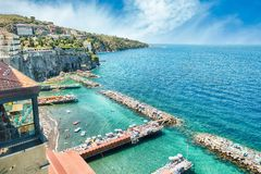 Scenic aerial view of Sorrento, Italy, during summertime. Scenic aerial view of Sorrento, Neapolitan Riviera, Italy, during summertime Stock Photography