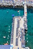 Scenic aerial view of Sorrento, Neapolitan Riviera, Italy, durin. G summertime royalty free stock photos