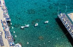 Scenic aerial view of Sorrento, Neapolitan Riviera, Italy, durin. G summertime Royalty Free Stock Photo