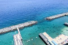 Scenic aerial view of Sorrento, Neapolitan Riviera, Italy, durin. G summertime royalty free stock photography