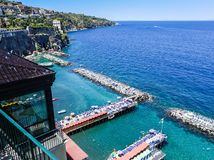 Scenic aerial view of Sorrento, Neapolitan Riviera, Italy, durin. G summertime Stock Image