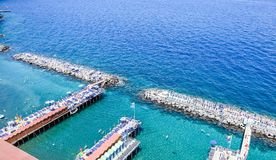 Scenic aerial view of Sorrento, Neapolitan Riviera, Italy, durin. G summertime stock images