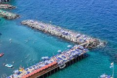 Scenic aerial view of Sorrento, Neapolitan Riviera, Italy, durin. G summertime stock photo