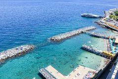 Scenic aerial view of Sorrento, Neapolitan Riviera, Italy, durin. G summertime Royalty Free Stock Image
