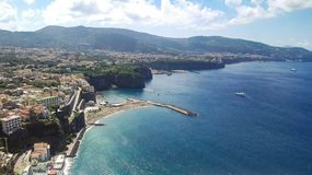 Scenic aerial view of Sorrento. Tourist place and very famous in Italy stock image