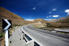 Scenic Alpine road Royalty Free Stock Photography