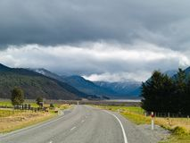 Scenic Alpine road Stock Images