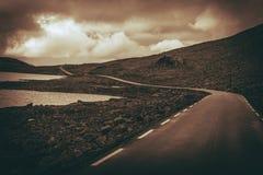 Scenic Alpine Road Stock Photography