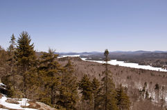 Scenic alpine view in Adirondack Mountains of New York State Royalty Free Stock Photography