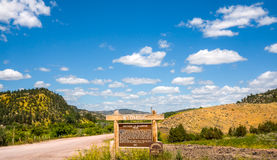 Scenic America Wyoming state line Royalty Free Stock Photography