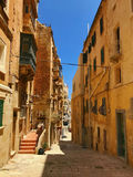 Scenic ancient Valletta Streets of Malta Royalty Free Stock Image