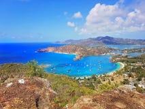 Scenic Antigua beaches. In Caribbean royalty free stock image