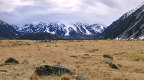 Scenic of aoraki - mt.cook national park in south island new zea Stock Photo