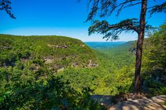 Scenic Appalachian overlook in Georgia stock photo