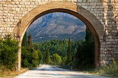 Scenic arch in Croatia. Scenic archway in the heart of South Croatia Royalty Free Stock Image