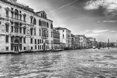 Scenic architecture along the Grand Canal in Venice, Italy Royalty Free Stock Photos
