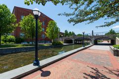Scenic Area in Carrol Creek Promenade in Frederick, Maryland Royalty Free Stock Photo