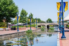 Scenic Area in Carrol Creek Promenade in  Frederick, Maryland Stock Photos