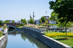 Scenic Area in Carrol Creek Promenade in Frederick, Maryland Royalty Free Stock Images