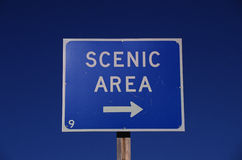 Scenic Area directional road sign Stock Photography
