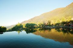 Yunnan jade water village. The scenic area of Yu Shui Zhai is located in the northern part of Baisha Town, Lijiang, Yunnan, and consists of a series of scenic royalty free stock images