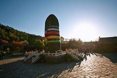 Yunnan jade water village. The scenic area of Yu Shui Zhai is located in the northern part of Baisha Town, Lijiang, Yunnan, and consists of a series of scenic royalty free stock photo