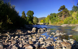 Scenic Arkansas river in Colorado. Rocky mountains Royalty Free Stock Image