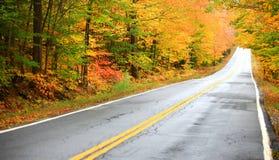 Scenic autumn drive Stock Image