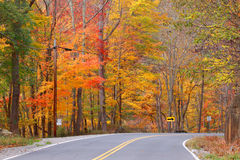 Scenic autumn drive Royalty Free Stock Photo