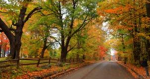Scenic autumn drive Stock Photo