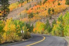 Scenic autumn drive Royalty Free Stock Photos