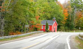 Scenic Autumn Drive Way Royalty Free Stock Images