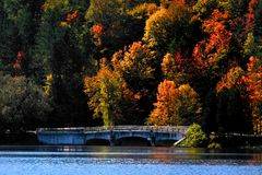 Scenic Autumn landscape in Allegheny Stock Images