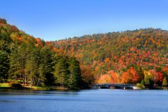 Scenic Autumn landscape in Allegheny Stock Photos