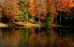 Scenic autumn landscape in Pennsylvania Royalty Free Stock Image