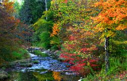Scenic autumn landscape in Pennsylvania Royalty Free Stock Photography