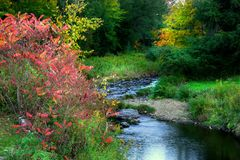 Scenic autumn landscape in Pennsylvania Stock Photography