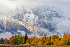 Scenic Autumn Landscape in the Tetons. A scenic landscape of the tetons in autumn Stock Photos