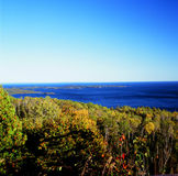 Scenic Autumn Overlook on Lake Superior Stock Image