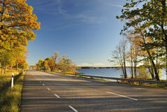 Scenic autumn road Stock Photography