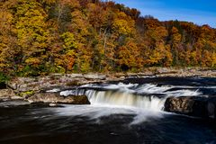 Hogback Ridge Falls - Waterfall - Hogback Ridge Metro Park, Ohio Royalty Free Stock Photo