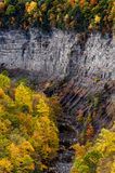 Taughannock Falls & Gorge - Autumn Colors - Ithaca, New York Royalty Free Stock Photos