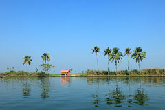 Scenic backwater destinations of Kerala, India. Royalty Free Stock Photo