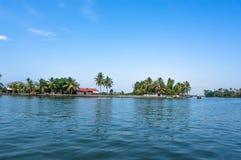 Scenic backwater destinations of Kerala, India. Royalty Free Stock Photo