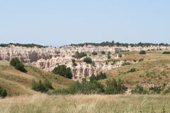 Scenic Badlands Landscape Royalty Free Stock Photography