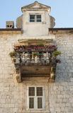 Scenic balcony. Old town of Kotor, Montenegro Royalty Free Stock Photos