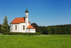 Scenic bavarian church Royalty Free Stock Photography