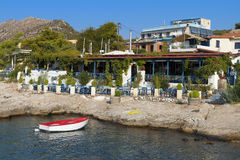 Scenic bay in a Greek island Stock Photo